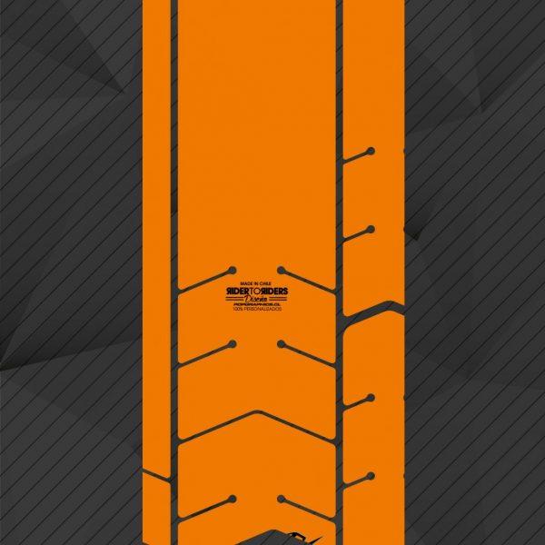 Protector flúor naranja