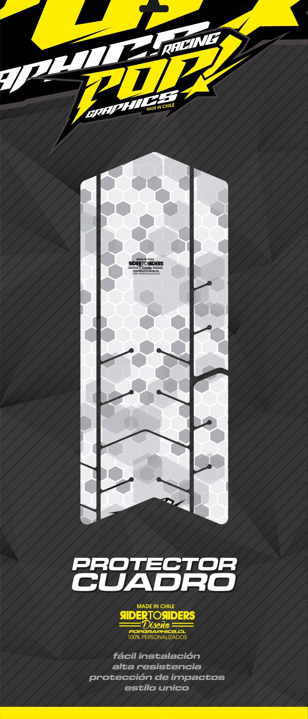 Protector transparente hexagonal