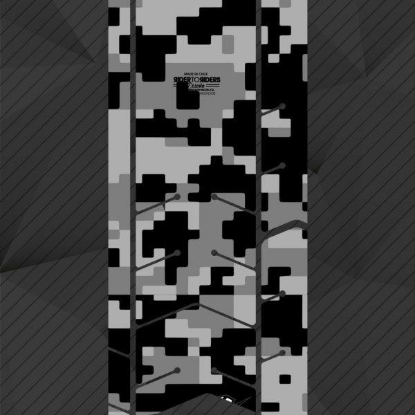 Protector transparente camuflaje pixel