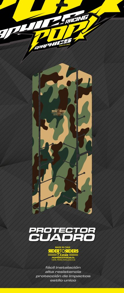 Protector camuflaje verde