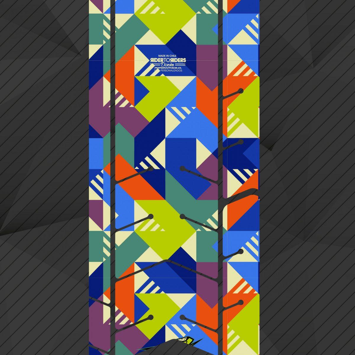Protector cuadrados colores