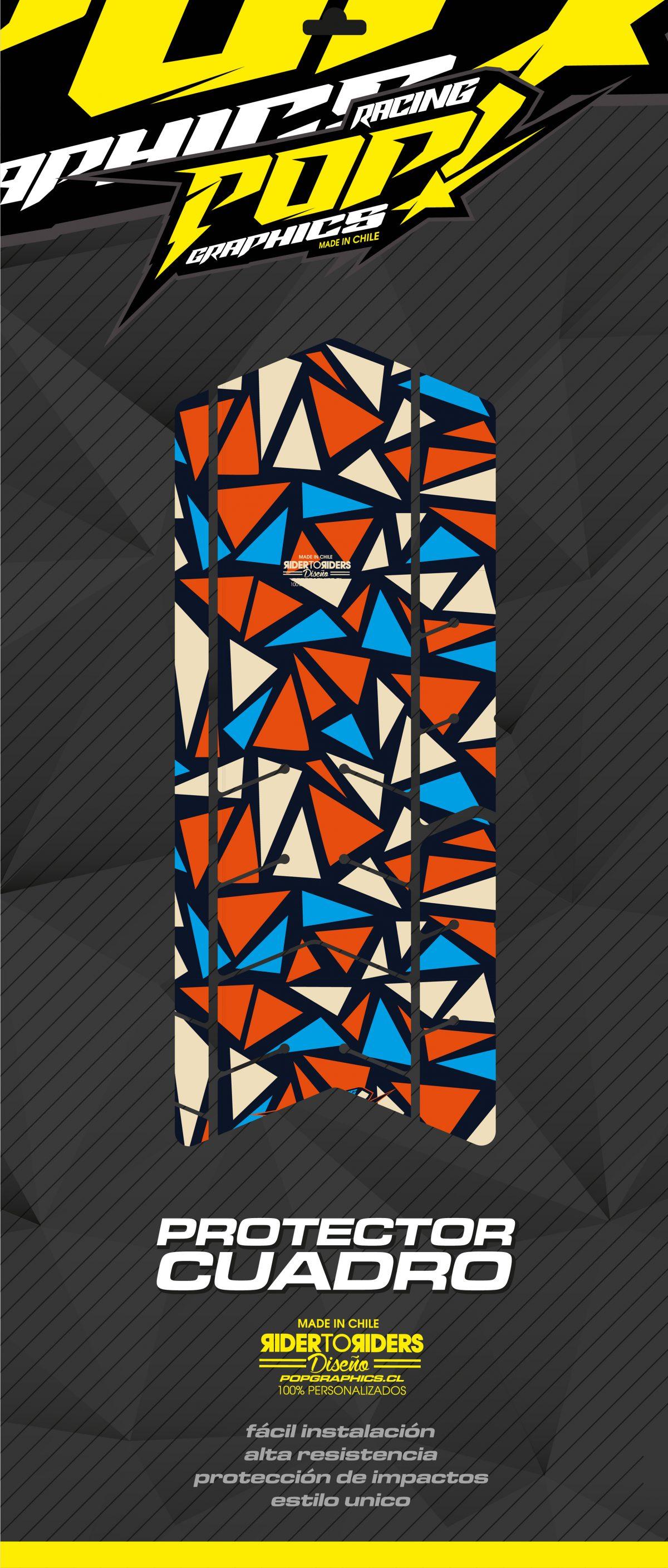 Protector triángulos colores