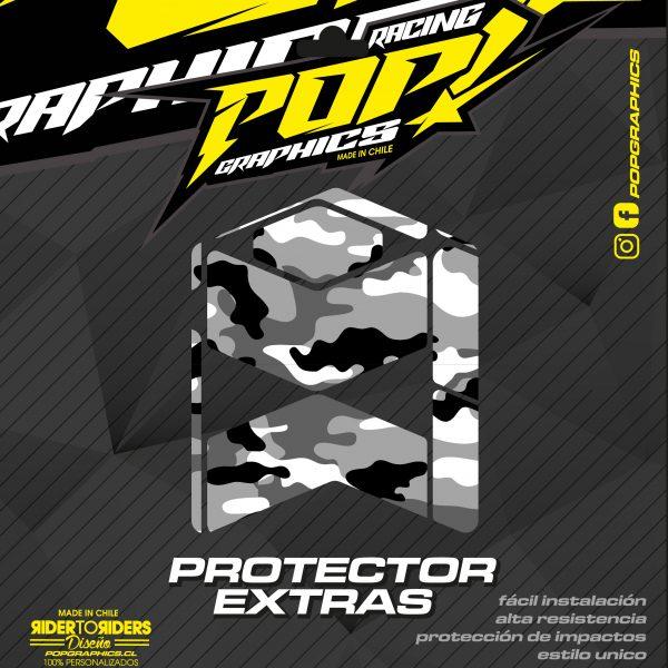 Protector extra transparente camuflado
