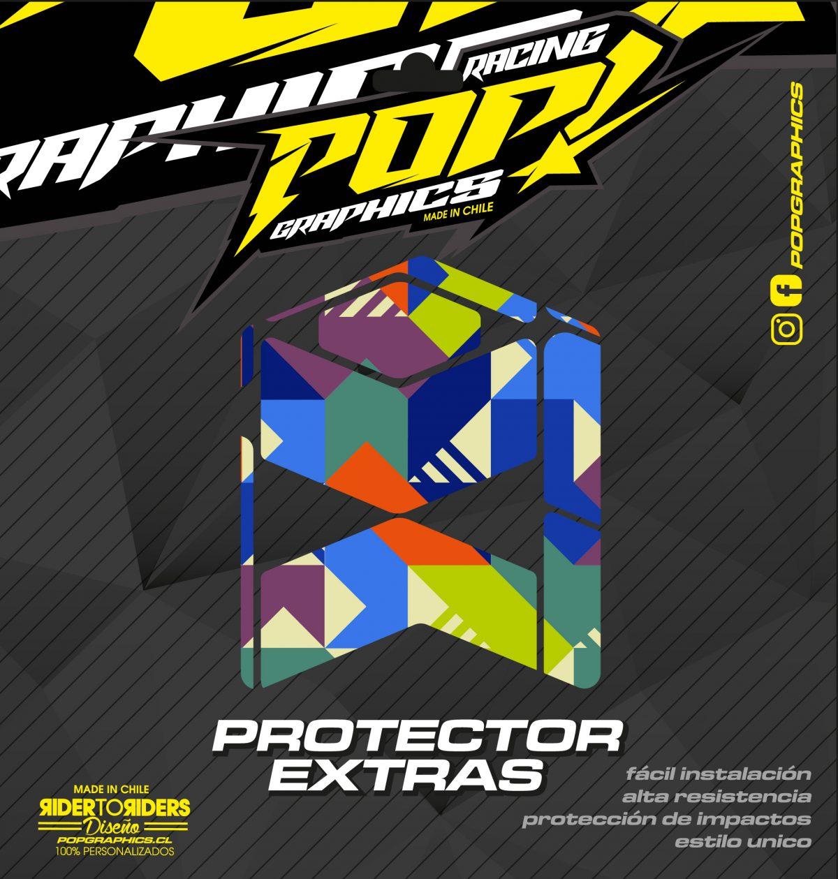 Protector extra cuadrados colores
