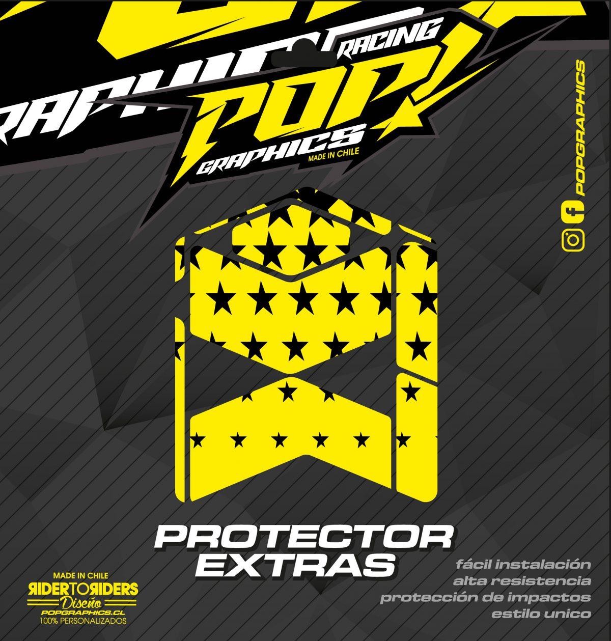 Protector extra estrellas amarillas