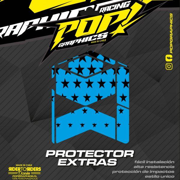 Protector extra estrellas cian