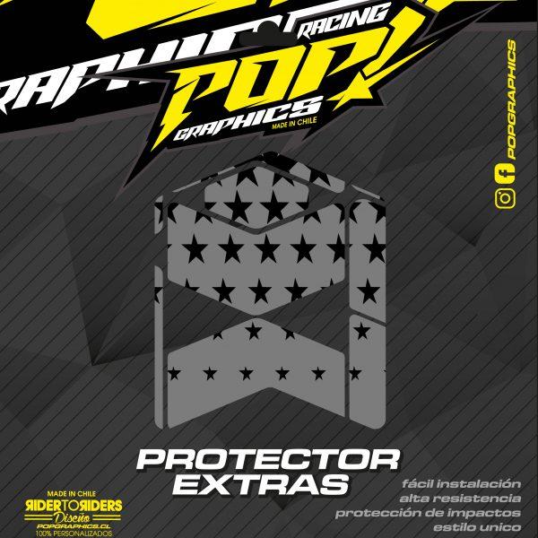 Protector extra estrellas grises