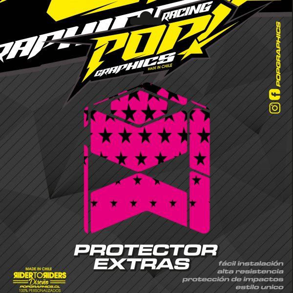 Protector extra estrellas magenta