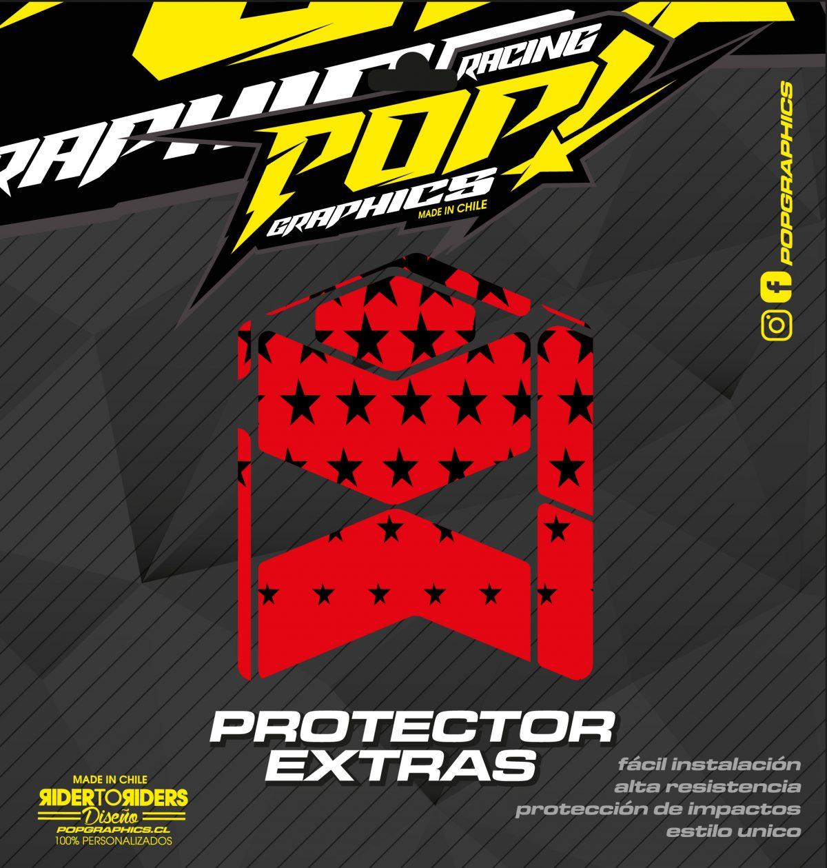 Protector extra estrellas rojas