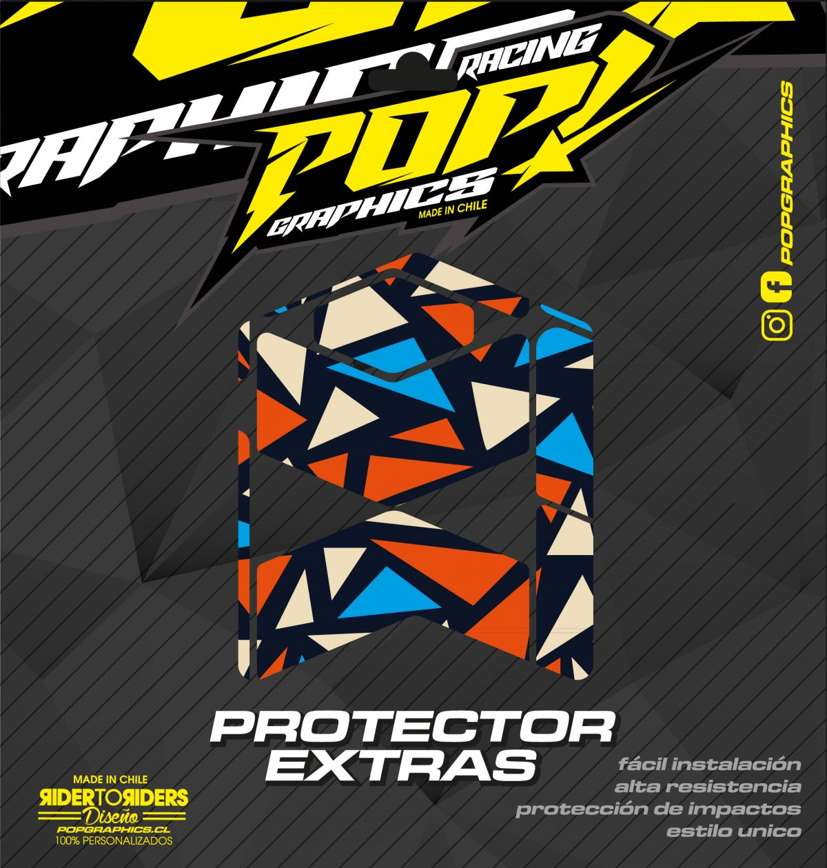 Protector extra triángulos colores