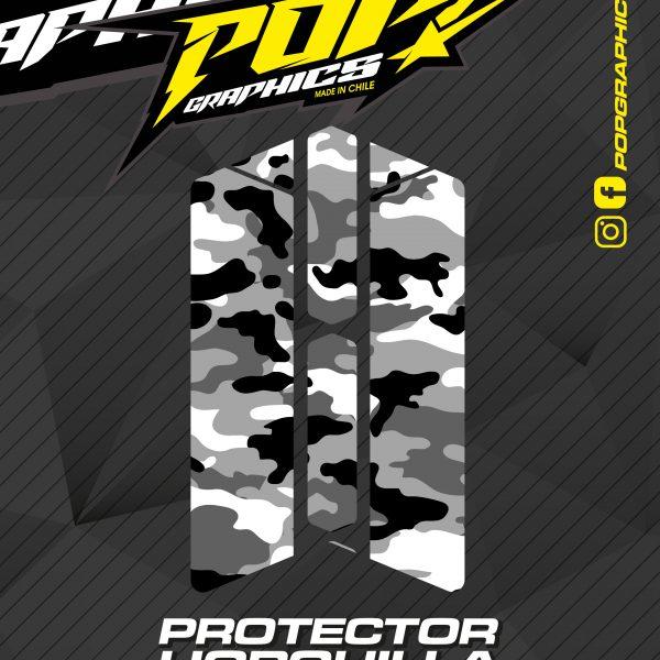 Protector horquilla camuflado