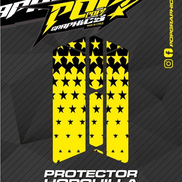 Protector horquilla estrellas amarillas
