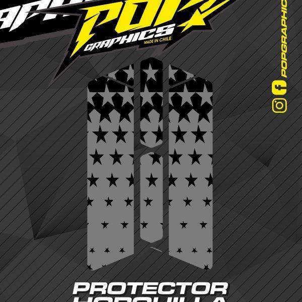 Protector horquilla estrellas grises