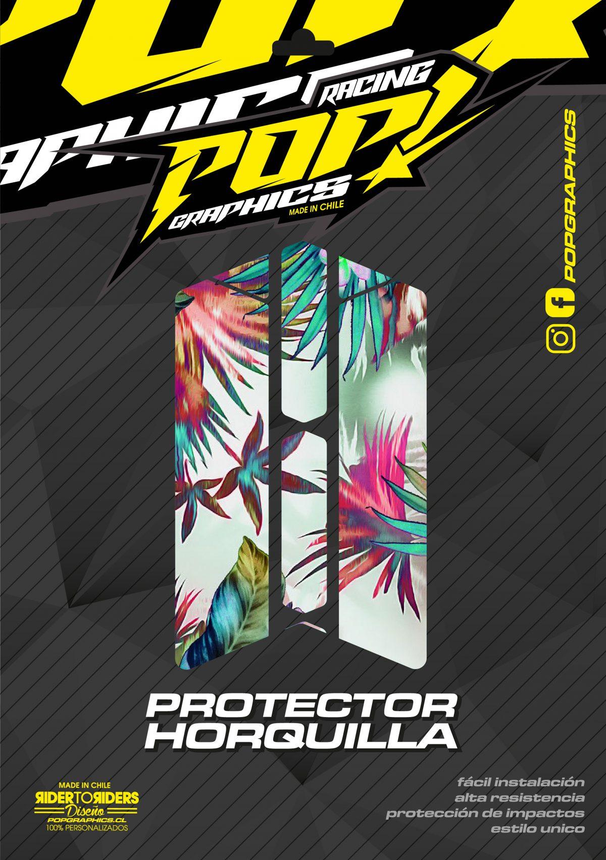 Protector horquilla flores