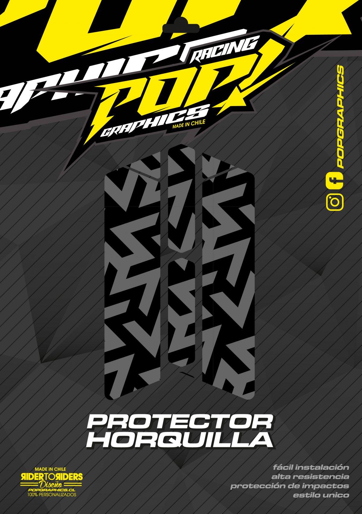 Protector horquilla formas grises