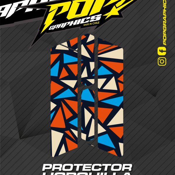 Protector horquilla triángulos
