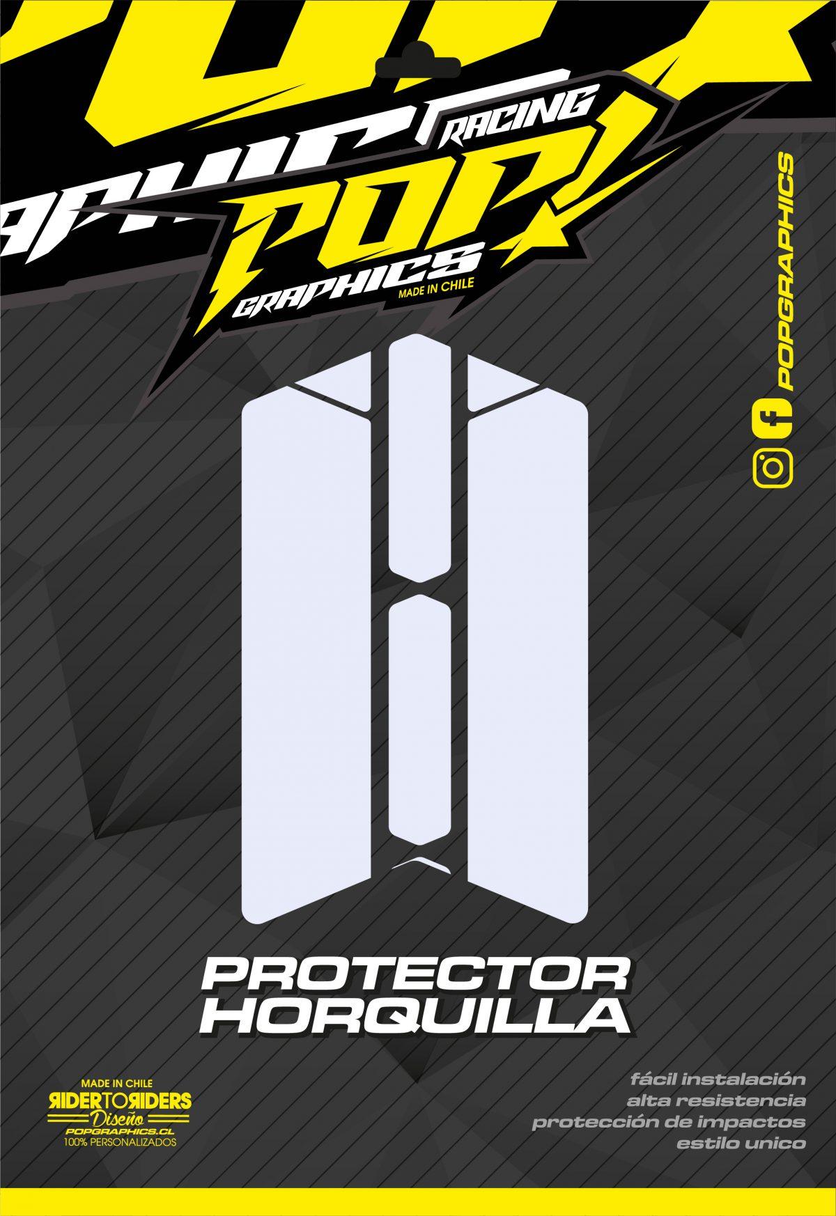 Protector horquilla transparente