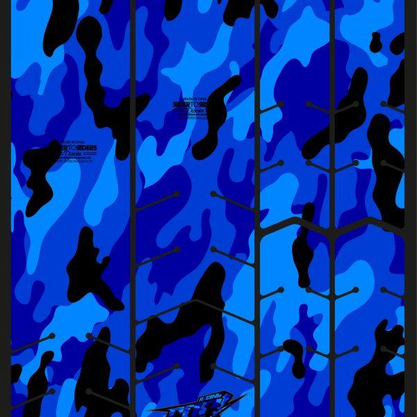 Protector camuflaje azul