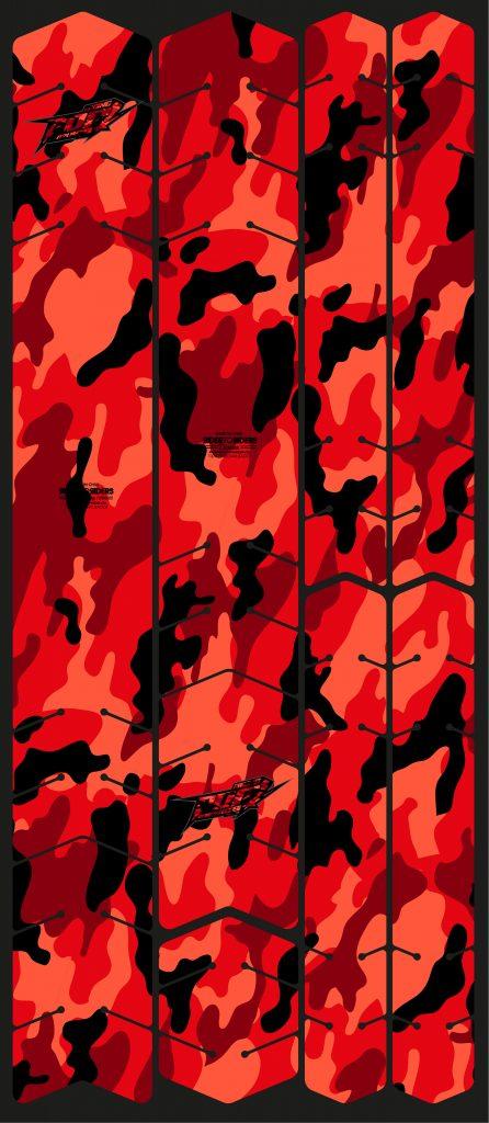 Protector camuflaje rojo