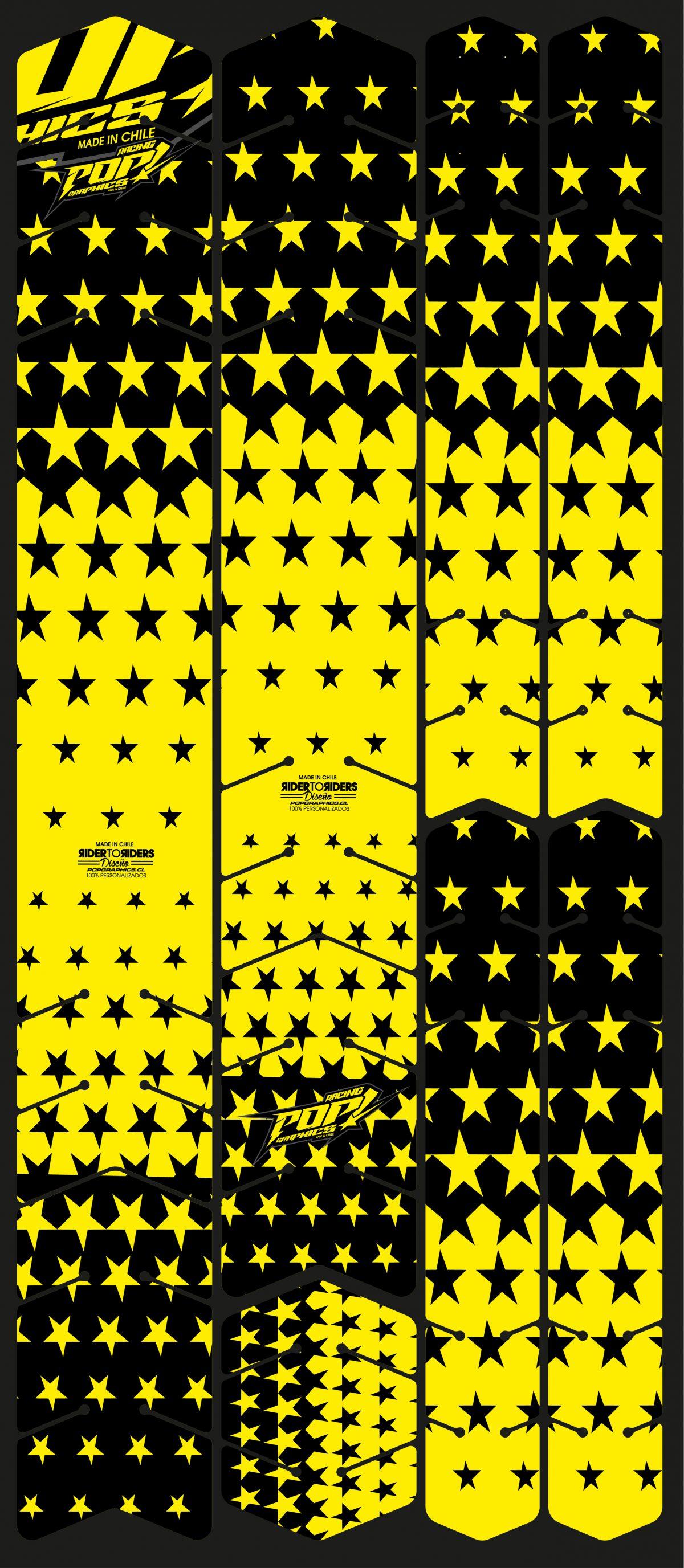 Protector estrellas amarillas