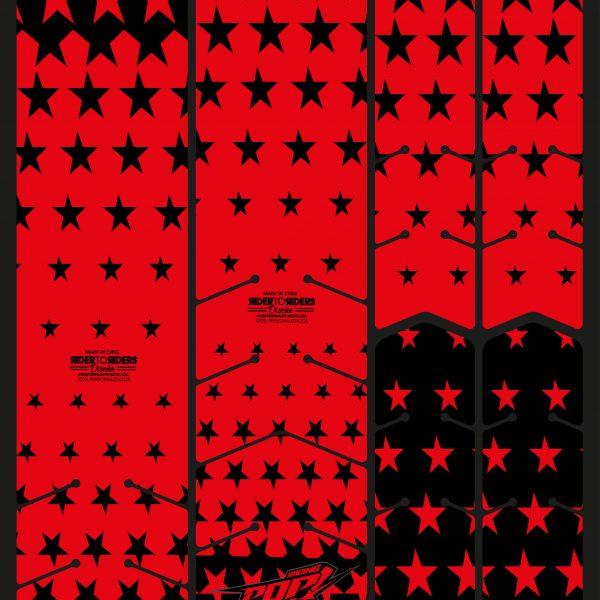 Protector estrellas rojas